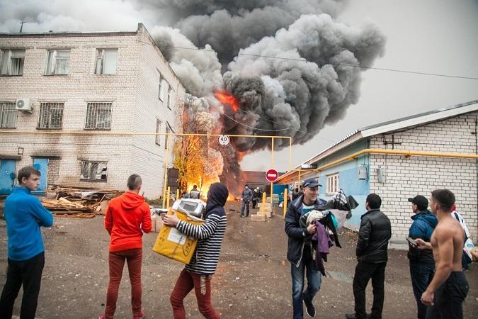 Пожары на рынках Казани: злой